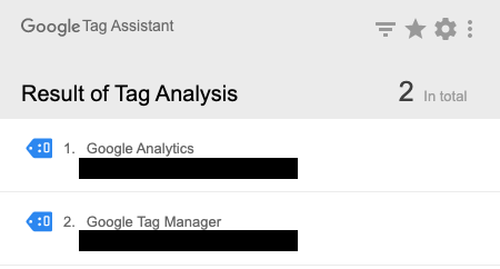 Checking tags with tag assistant